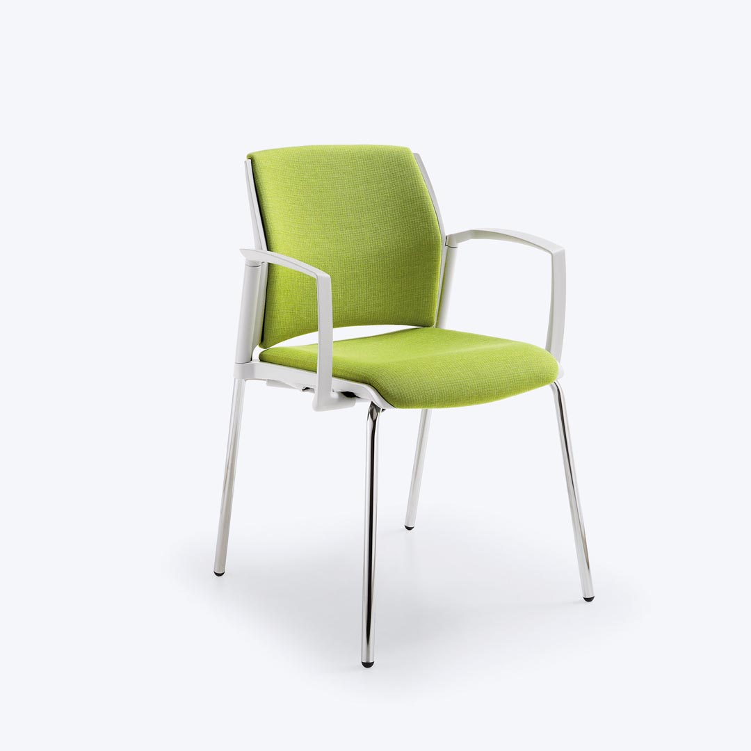 Start stacking visitor chair upholstered
