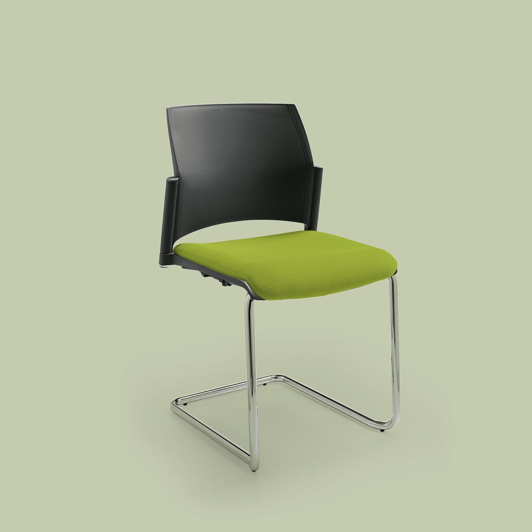 Start visitor stacking chair upholstered